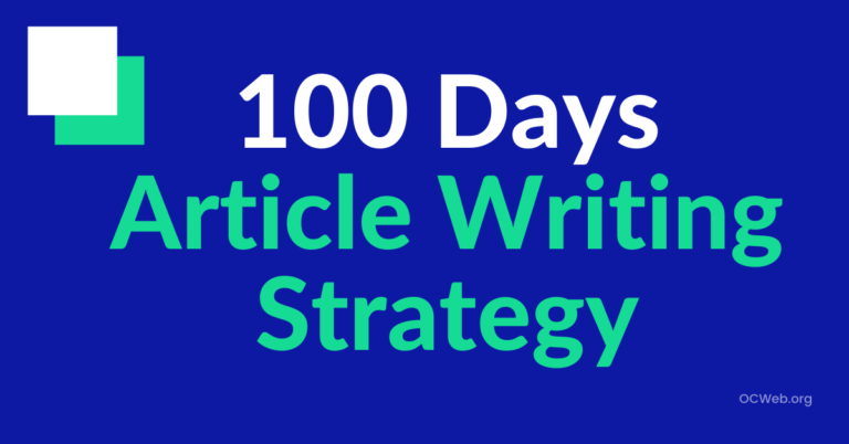 Article writing strategy